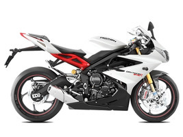 2017 Triumph Daytona 675 R ABS Crystal White/Jet Black