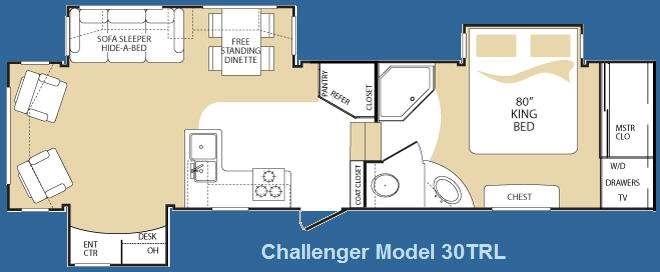 2009 Keystone Challenger 30TRL