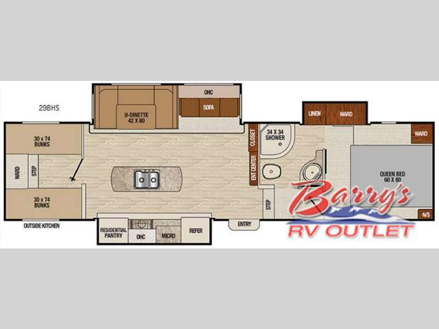 2018 Coachmen Rv Chaparral Lite 29BHS