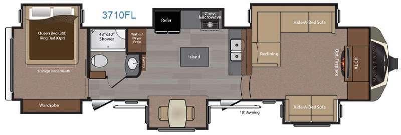 2016 Keystone Rv Montana 3710 FL