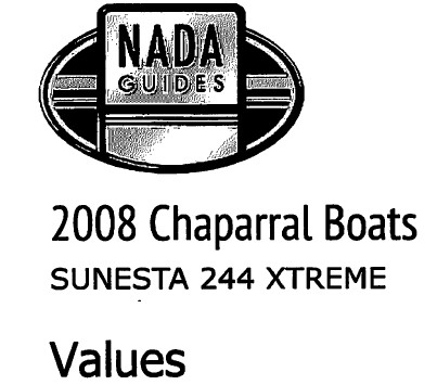 2008 Chaparral Sunesta 244 Xtreme