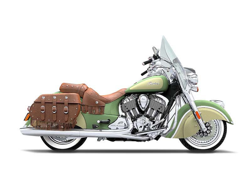2016 Indian Motorcycle Chief Vintage Willow Green and Ivory Cream