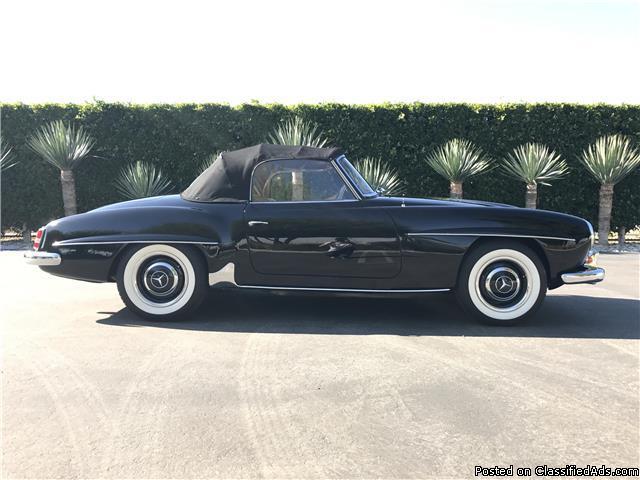 1957 Mercedes 190SL Black Tan Convertible