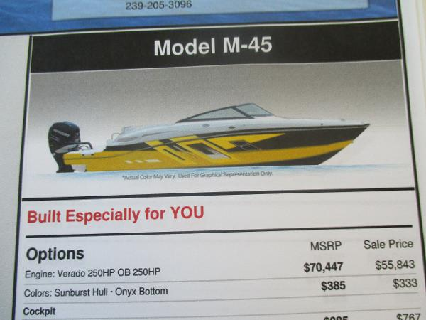2017 Monterey M45  24ft. OUTBOARD