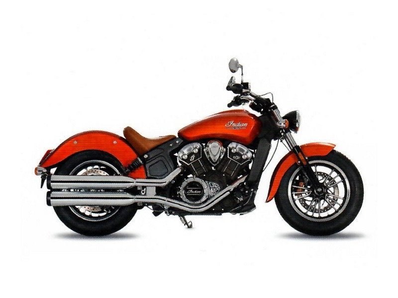 2017 Indian Motorcycle Scout Icon Sunblaze Orange