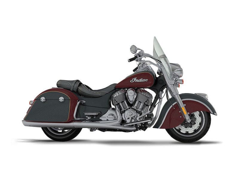 2017 Indian Motorcycle Springfield Steel Gray Over Burgundy Metallic