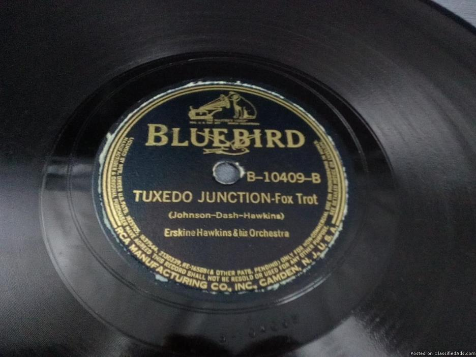 Original Erskin Hawkins 78 Tuxedo Junction on Blue Bird Records, 0