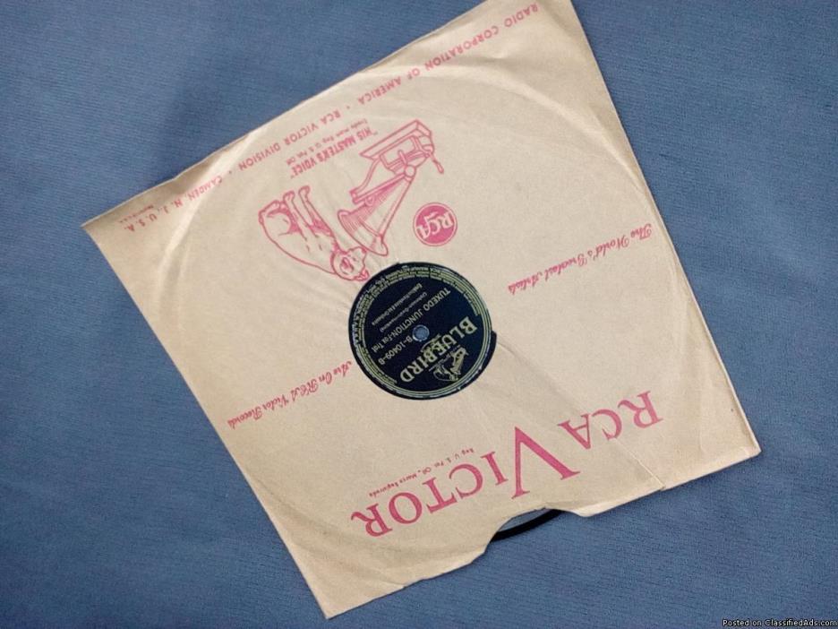 Original Erskin Hawkins 78 Tuxedo Junction on Blue Bird Records, 1