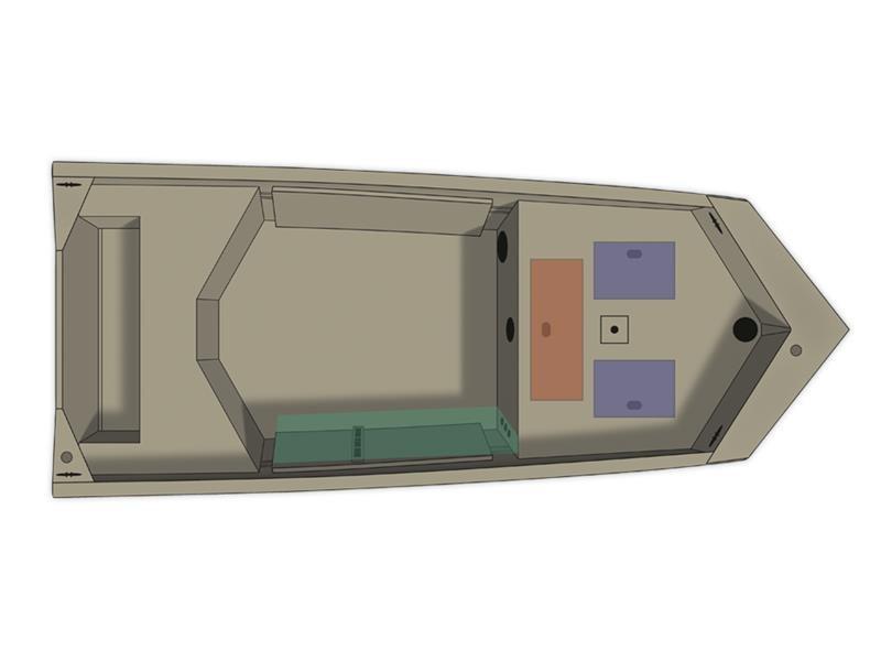 2017 Crestliner 1650 Retriever Jon Deluxe