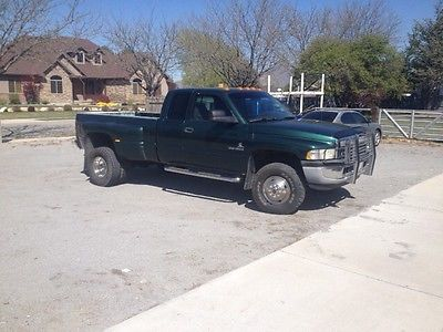 Ram : 3500 slt 2000 dodge ram 3500 cummins auto 4 x 4 dually only 171 k miles