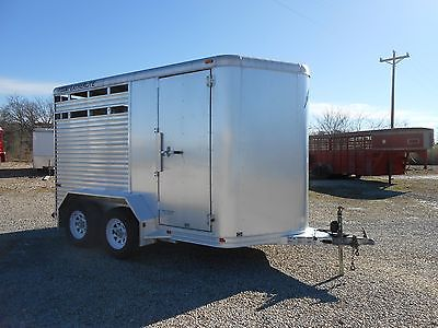 2007 Featherlite Model 8407 12' Stock/Combo Bumper Pull Trailer