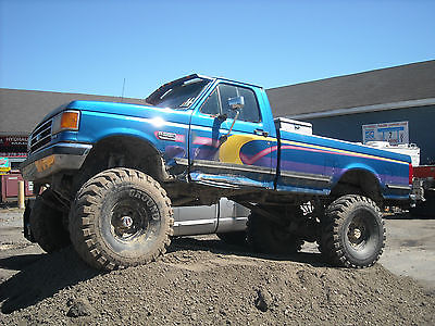 Ford : Other 2 Door 1990 ford f 350 4 x 4 mud truck off road