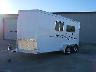 2014 Featherlite Model 9407 2 Horse Straight Load Aluminum Trailer