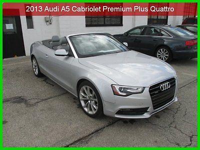 Audi : A5 2.0T Premium 2013 2.0 t premium plusturbo 2 l i 4 16 v auto awd convertible 1 owner clean carfax