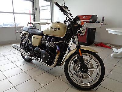 Triumph : Bonneville 2012 triumph bonneville 865 cc gold paint 1 owner garage kept mint 1 956 miles