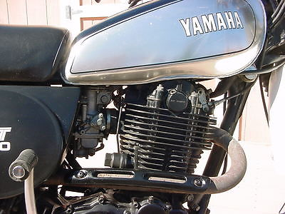 Yamaha : XT 1980 yamaha xt 500 enduro black and chrome