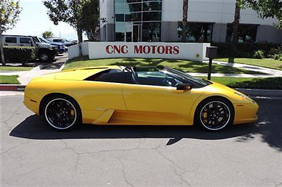 Lamborghini : Murcielago 2dr Convertible Roadster 2006 lamborghini murcielago convertible roadster in pearl yellow newer e gear