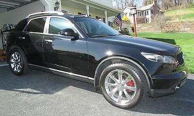 Infiniti : FX 45 2005 black infiniti fx 45 sport utility suv 4 door automatic awd 66 500 miles v 8
