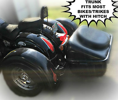 Custom Built Motorcycles : Other Add on trunk, uses hitch connection, large luggage trunk, removable lid