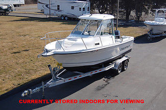 2010 TROPHY 2102 WA, HARD TOP & SIDES, MERC 175HP OPTIMAX 232HRS, W/ TRAILER