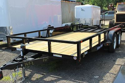 2015 Novae Sure-Trac 7' Wide TA Angle Iron Utility Trailers