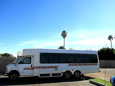 Chevrolet : Express G3500 1997 chevy express g 3500 cutaway 20 passenger shuttle bus turtle top terra