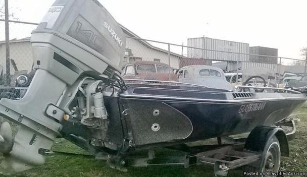 17' Bass Boat/Trailer/Motor&Trolling Motor
