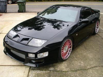 NISSAN 300ZX Black 1990