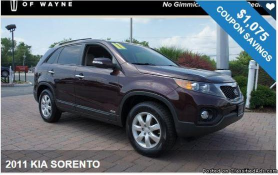 2011 KIA SORENTO / $1,075 IN COUPONS ! Get Exclusive Coupons and Savings!!