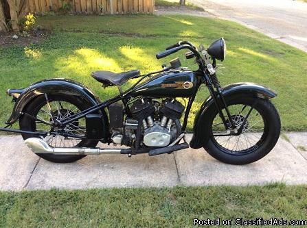 1936 Harley Davidson VLH Flathead Nice Bike