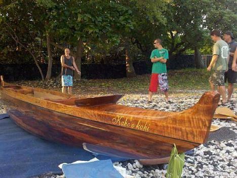 2010 Hawaiian Koa Canoe Sailing Outrigger