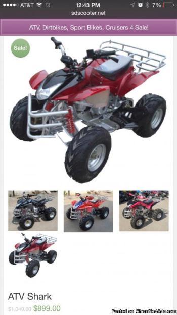 New ATV Shark Big Tires