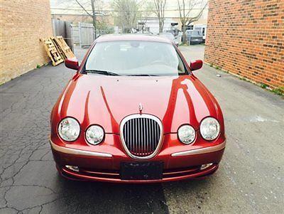 Jaguar : S-Type 4dr Sedan V8 4 dr sedan v 8 s type low miles automatic gasoline 4.0 l 8 cyl red
