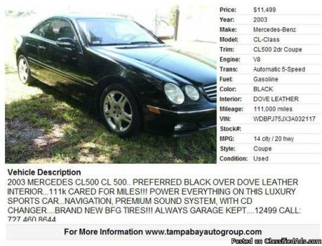 Mercedes Cl500 Cars For Sale