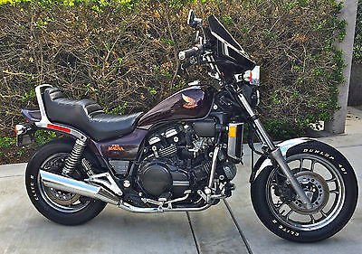 Honda : Magna 1985 honda v 65 magna burgundy vf 1100 cc 6 speed nice bike runs beautiful