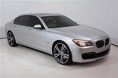 BMW : 7-Series 750Li 2011 750 li 47 k miles m sport heads up display rear shades rear camera 12 13