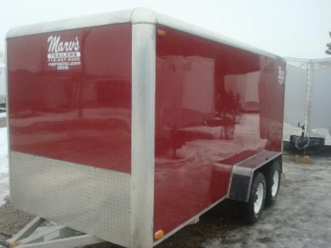 2001 6X14 ALUMA ALUMUNUM ENCLOSED TRAILER