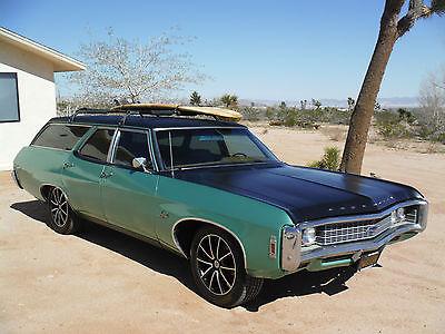Chevrolet : Impala KINGSWOOD 1969 impala 9 passenger kingswood edition wagon new 350 cold ac disc brakes
