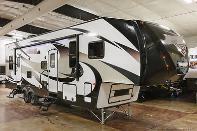 New 2015 3650THS Double Slide 5th Fifth Wheel Toy Hauler Slide Out 12 ft Garage