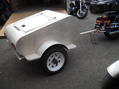 ROADMASTER ALUMINUM MOTORCYCLE TRAILER WITH FLH HITCH GREAT CONDITION