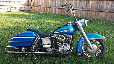 Harley-Davidson : Touring 1969 harley davidson flh 1200 cc dresser generator shovel shovelhead pan shovel