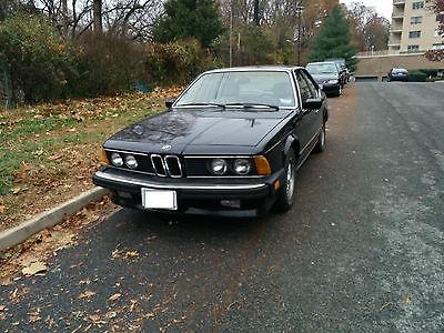 BMW : 6-Series L6 1987 bww l 6 e 24 i 6 black runs well new alternator