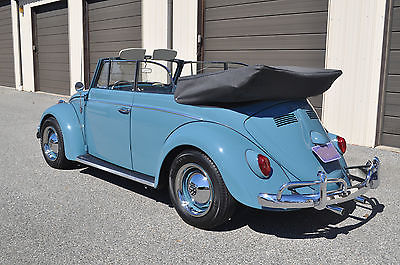 Volkswagen : Beetle - Classic Cabriolet Fully Restored (Frame off) Beetle Convertible. Gulf Blue / Gray.  West Coast Car