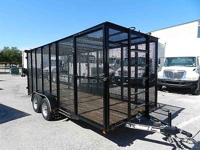 2013 16-ft Secured Landscaping Construction Equipment Trailer Cage For Sale