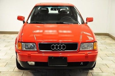 Audi : 90 90 1995 audi 90 red low miles 5 speed rare find