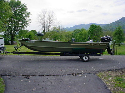 16 FT BIG JOHN ALUMINUM FISHING BOAT 25 HORSE JOHNSON & 6 HORSE 4 STROKE MECURY