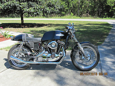 Harley-Davidson : Sportster 1980 harley ironhead sportster cafe racer