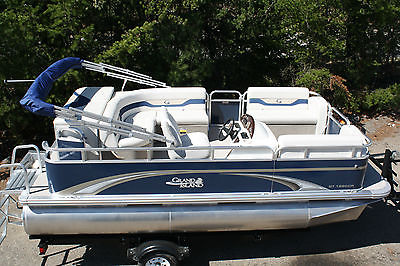 New 16 ft high quality pontoon boat 8 ft wide with 23 inch tubes.