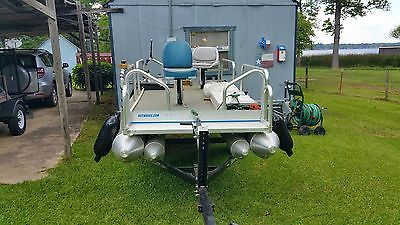 15 foot Pontoon with Bass Boat Seats anchormates Bimini Included Not Installed