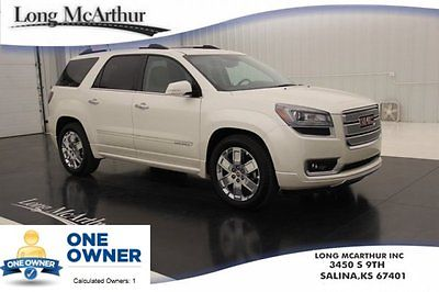 GMC : Acadia Denali Certified Navigation Sunroof DVD 1 Owner 13 certified 3.6 v 6 bose audio nav moonroof heated cooled leather remote start